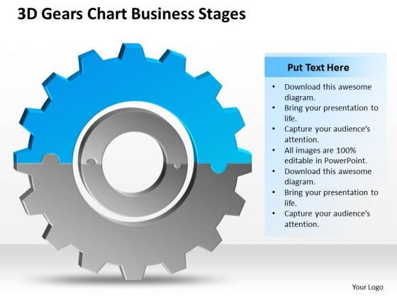 3d Gears Chart Business Stages Ppt Basic Plan PowerPoint Slides