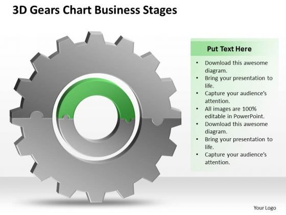 3d Gears Chart Business Stages Ppt Plan PowerPoint Templates