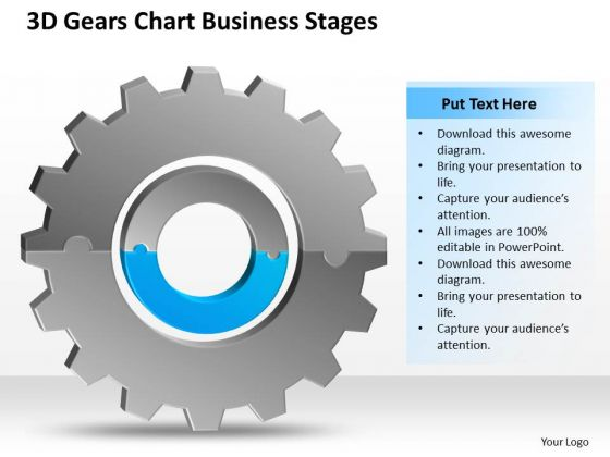 3d Gears Chart Business Stages Ppt Plan Template PowerPoint Templates