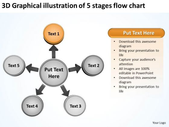 3d Graphical Illustration Of 5 Stages Flow Chart Business Cycle ...