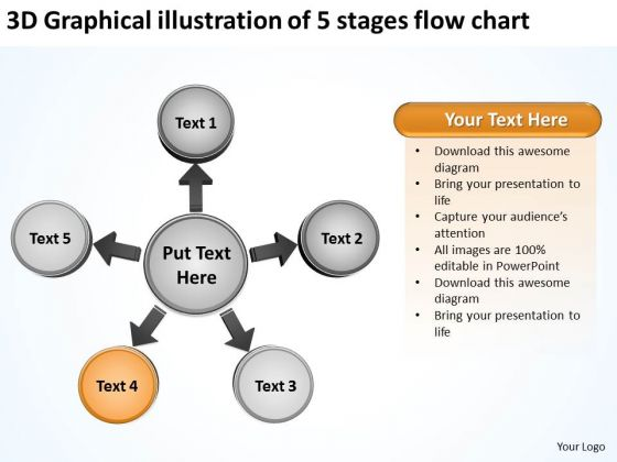 3d Graphical Illustration Of 5 Stages Flow Chart Ppt Circular Spoke Diagram PowerPoint Slides