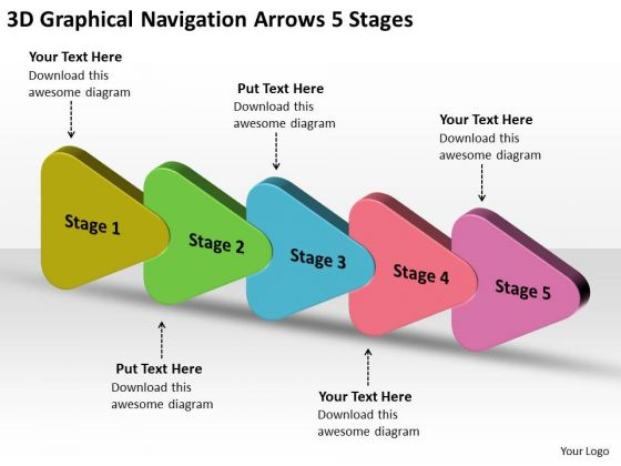 3d Graphical Navigation Arrows 5 Stages Online Flow Chart Creator