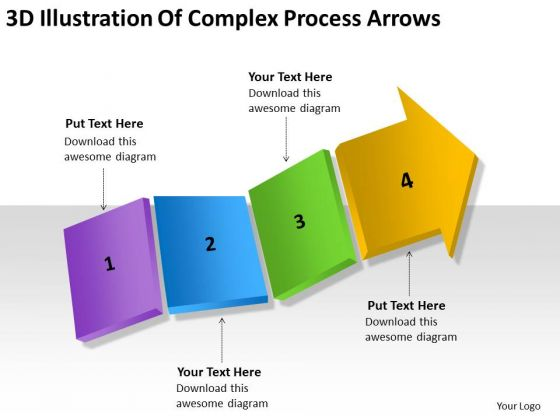3d Illustration Of Complex Process Arrows Ppt Good Business Plan PowerPoint Templates
