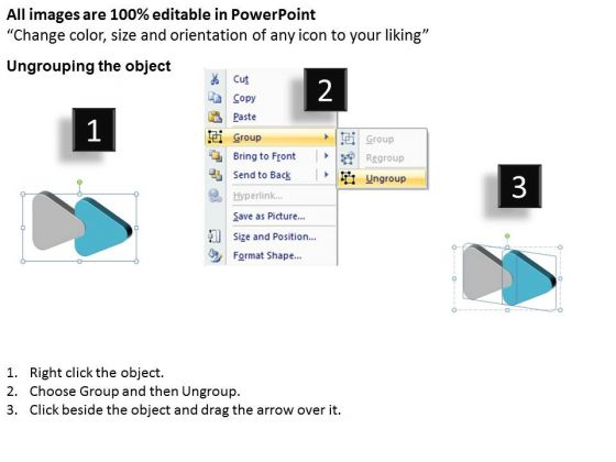 3d_linear_flow_navigation_arrow_2_stages_ppt_working_chart_powerpoint_slides_2