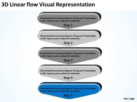 3d Linear Flow Visual Representation Chiropractic Business Plan PowerPoint Templates
