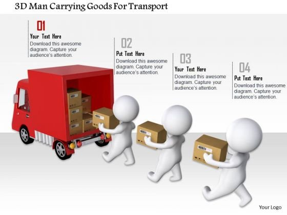 3d Man Carrying Goods For Transport