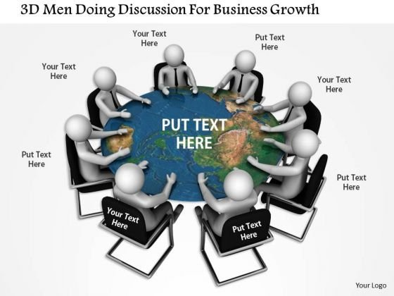 3d Man Doing Discussion For Business Growth