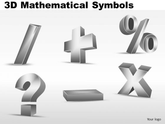 3d Mathematical Symbols PowerPoint Slides And Ppt Images