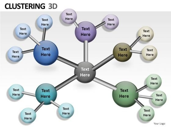 3d Network Clusters PowerPoint Slides And Ppt Diagram Templates