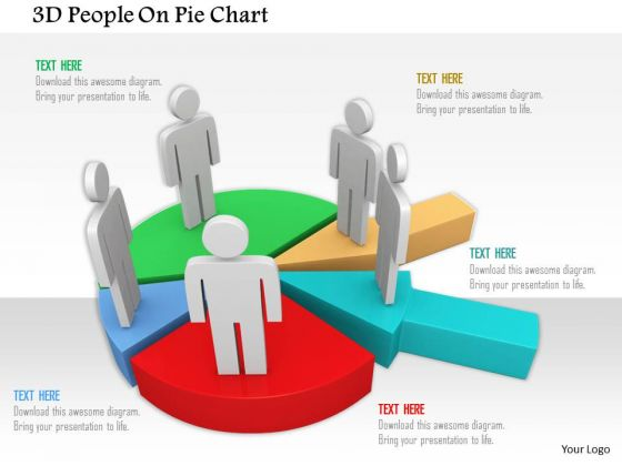 3d People On Pie Chart PowerPoint Templates
