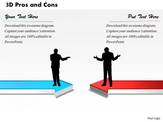 3d Pros And Cons PowerPoint Presentation Template