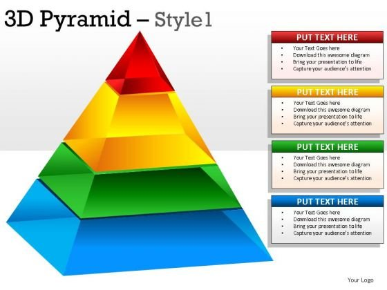 3d Pyramids PowerPoint Presentation Slides And Pyramids Ppt Templates