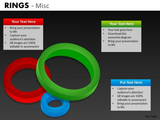 3d Rings Step Diagrams PowerPoint Templates And Editable Ppt Slides