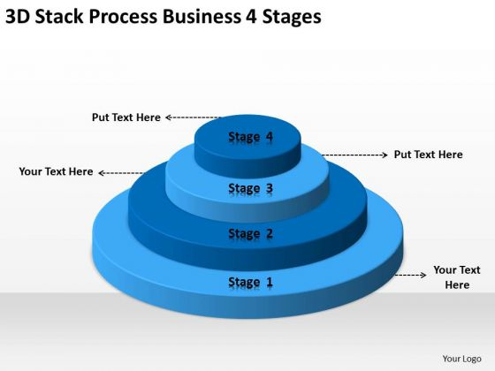 3d Stack Process Business 4 Stages Ppt Plan Writers For Hire PowerPoint Slides