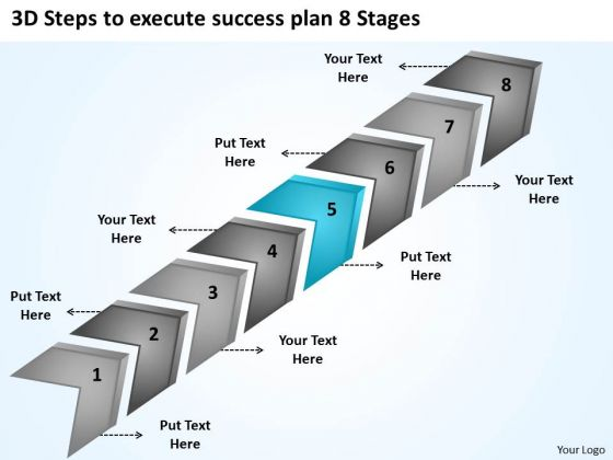 3d Steps To Execute Success Plan 8 Stages Child Care Business PowerPoint Templates