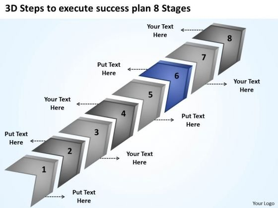 3d Steps To Execute Success Plan 8 Stages Free Business PowerPoint Slides