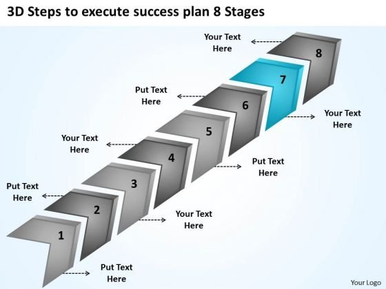 3d Steps To Execute Success Plan 8 Stages How Do I Start Business PowerPoint Slides