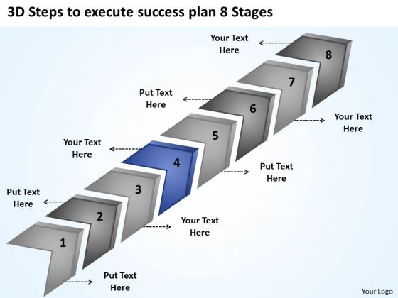 3d Steps To Execute Success Plan 8 Stages How Wright Business PowerPoint Slides