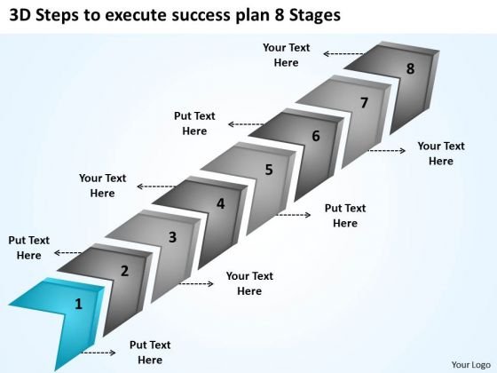 3d Steps To Execute Success Plan 8 Stages Software For Business Plans PowerPoint Slides