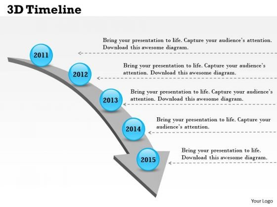 3d Timeline PowerPoint Presentation Template