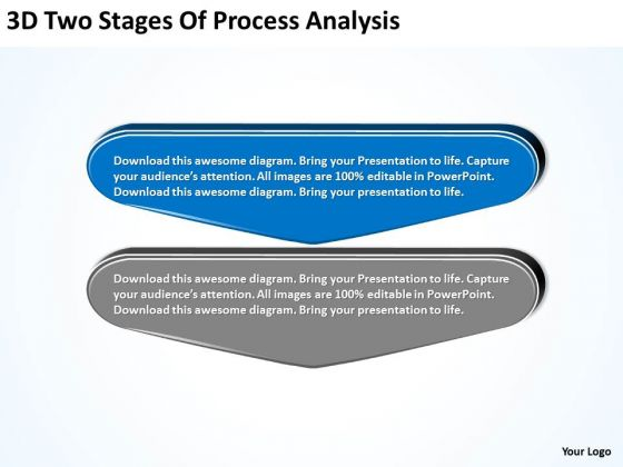 3d Two Stages Of Process Analysis Flow Charting PowerPoint Slides