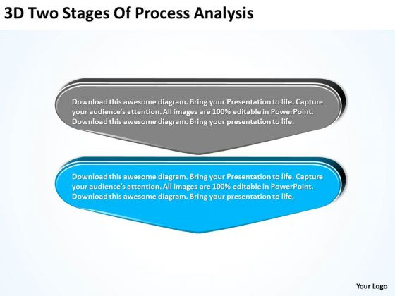 3d Two Stages Of Process Analysis Flowchart Application PowerPoint Templates
