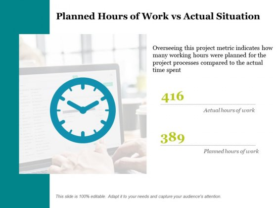 416 Planned Hours Of Work Vs Actual Situation Ppt PowerPoint Presentation Pictures Demonstration