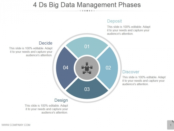 4Ds Big Data Management Phases Ppt PowerPoint Presentation Professional