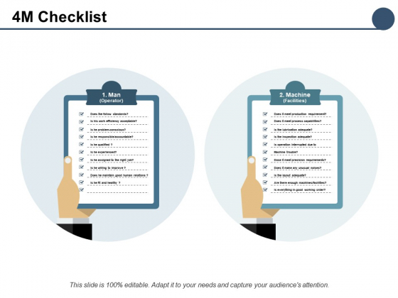 4M Checklist Marketing Ppt PowerPoint Presentation Pictures Inspiration