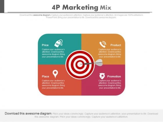 4P Marketing Mix Ppt Slides