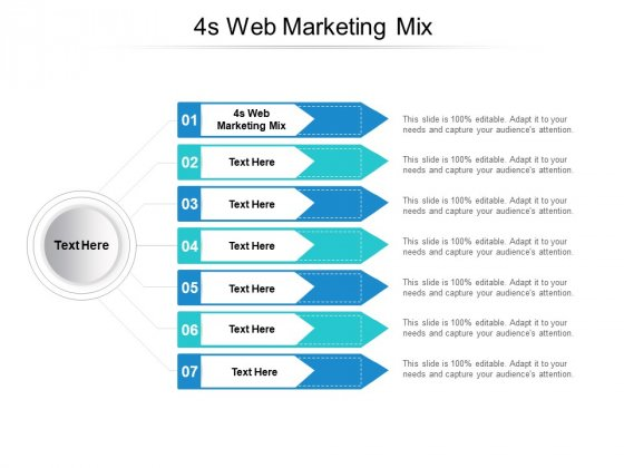 4S Web Marketing Mix Ppt PowerPoint Presentation Portfolio Gridlines Cpb