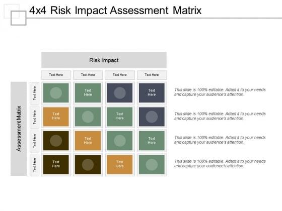 4x4 risk impact assessment matrix ppt powerpoint presentation file deck