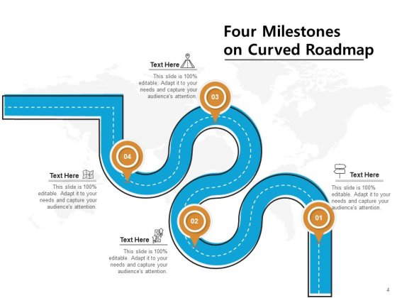 4_Major_Achievement_Timeline_Milestones_Curved_Roadmap_Ppt_PowerPoint_Presentation_Complete_Deck_Slide_4