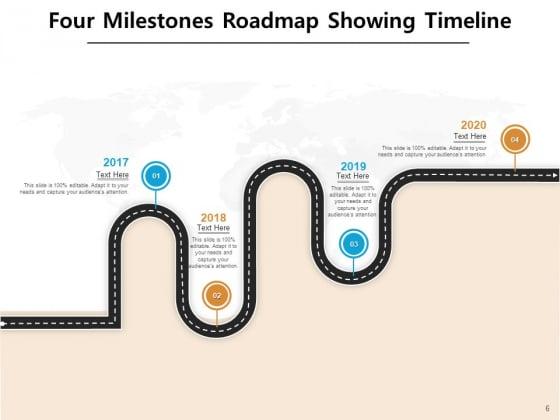 4_Major_Achievement_Timeline_Milestones_Curved_Roadmap_Ppt_PowerPoint_Presentation_Complete_Deck_Slide_6