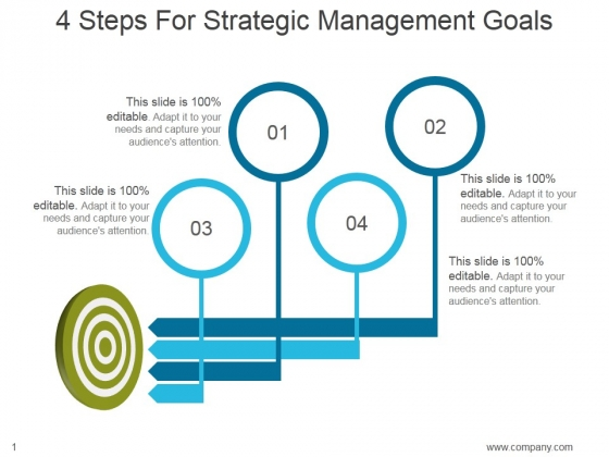 4 Steps For Strategic Management Goals Ppt PowerPoint Presentation Example