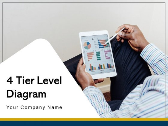 4 Tier Level Diagram Strategy Management Ppt PowerPoint Presentation Complete Deck