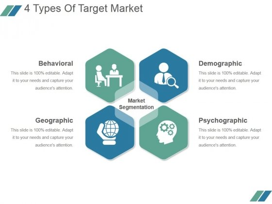 4 Types Of Target Market Ppt PowerPoint Presentation Styles