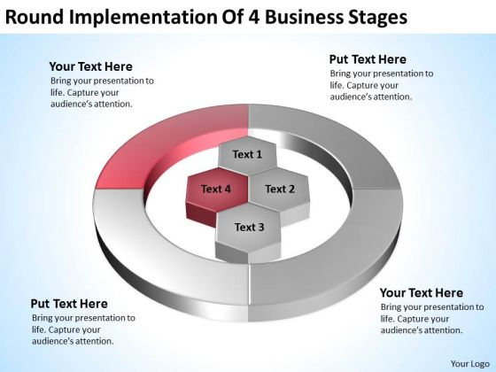 4 Business PowerPoint Templates Stages Ppt Market Plan Example