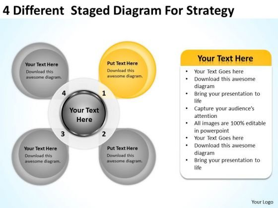 4 Different Staged Diagram For Strategy Ppt Business Plan Examples PowerPoint Templates
