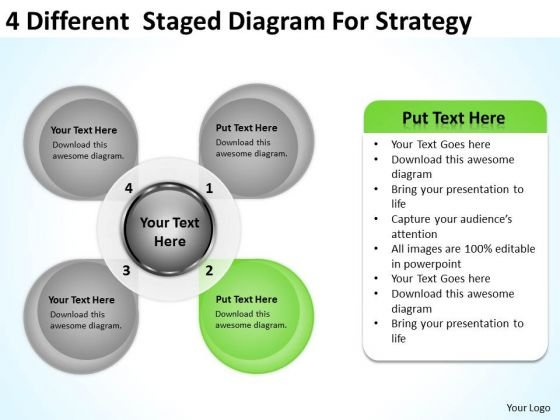 4 Different Staged Diagram For Strategy Ppt Business Plan PowerPoint Templates