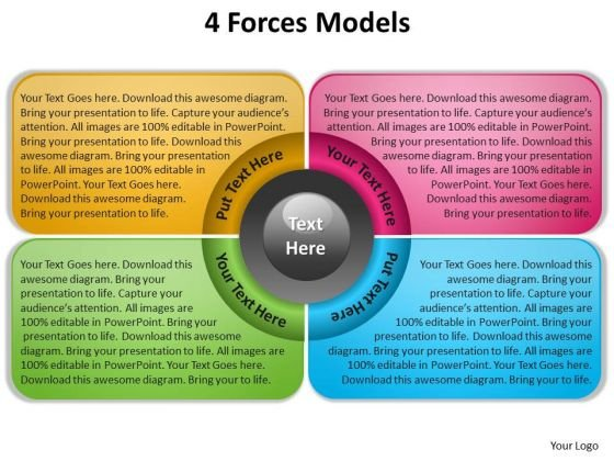 4 forces modelss powerpoint slides presentation diagrams templates, Powerpoint templates