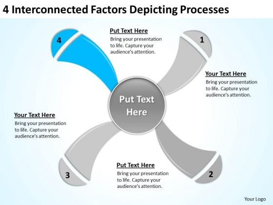 4 Interconnected Factors Depicting Processes Ppt For Business Plan PowerPoint Templates
