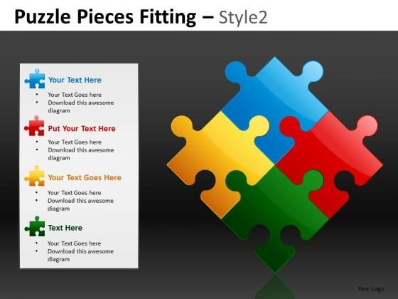 4 Perfect Fit Strategic Options PowerPoint Slides And Puzzles Ppt
