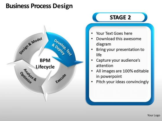 4 Stage Business Process Design PowerPoint Slides And Ppt Diagram Templates