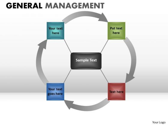 4 Stage Circle Process Wheel Diagram PowerPoint Templates Ppt Slides