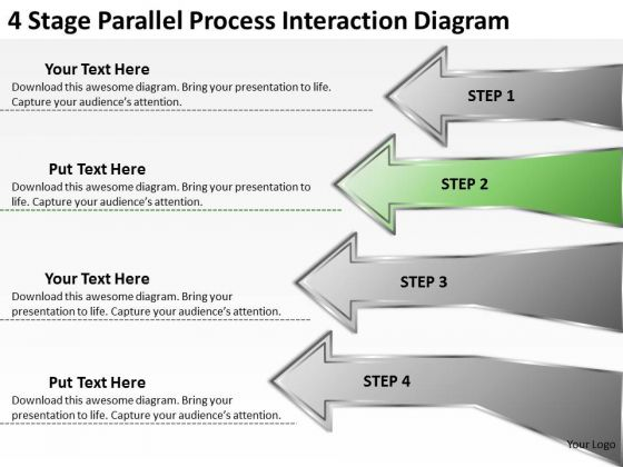 Stage Parallel Process Interaction Diagram Realtor Business Plan - Realtor business plan template