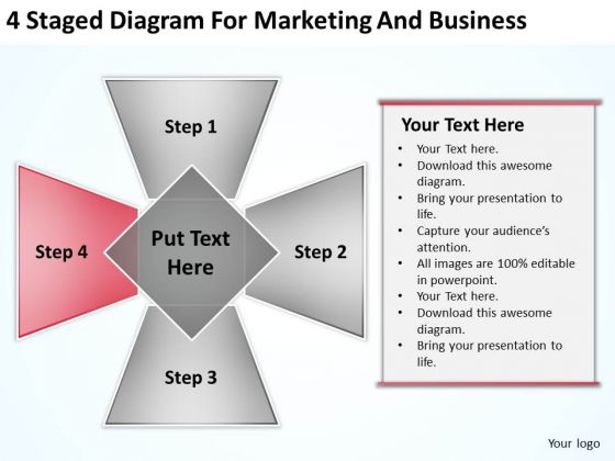 4 Staged Diagram For Marketing And Business Ppt Best Plan Software PowerPoint Templates