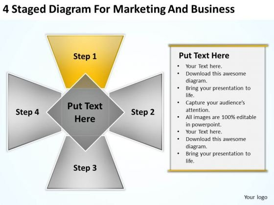 4 Staged Diagram For Marketing And Business Ppt Buy Plan PowerPoint Templates