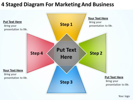 4 Staged Diagram For Marketing And Business Ppt Website Plan PowerPoint Slides