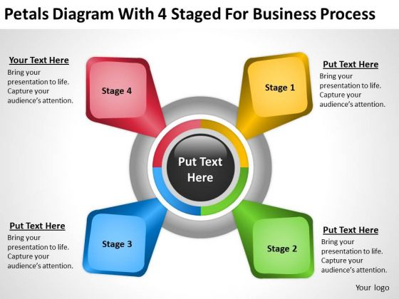4 Staged For Business Process Ppt Small Plan Template PowerPoint Slides